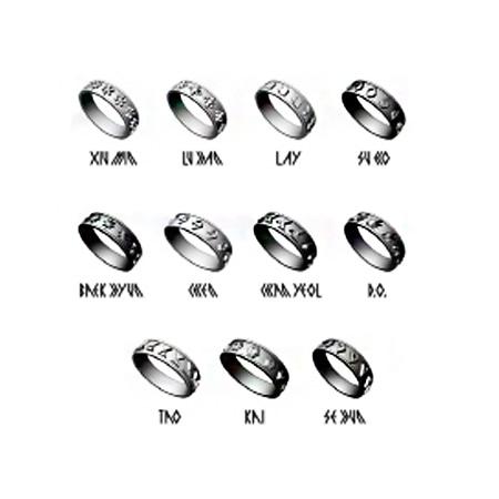 [EXO] EXO From EXO Planet #1 Official Symbol Rings Koreapopstore.com